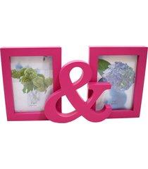 porta retrato minas de presentes 2 fotos 10x15cm rosa