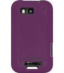 amzer silicone skin jelly case for motorola defy mb525 - purple