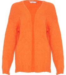 noella noella cardigan kala bright orange