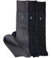 polo ralph lauren 3 pack over the calf dress men's socks