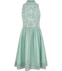 river island green sequin embellished prom dress