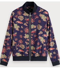 scotch & soda printed viscose jacket