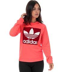 womens trefoil crew sweatshirt