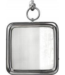 lustro ścienne portrait srebrne 28cm
