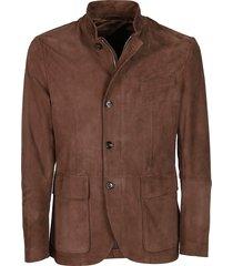 eleventy brown suede jacket