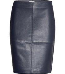 2nd cecilia knälång kjol blå 2ndday