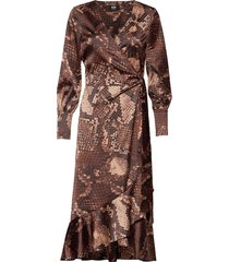 tammy dress jurk knielengte bruin twist & tango