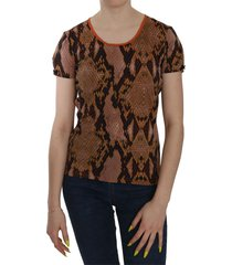 snake skin print short sleeve top t-shirt