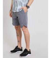 bermuda masculina esportiva ace com elastano e bolsos cinza