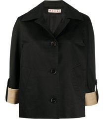 marni relaxed-fit 3/4 sleeves jacket - black