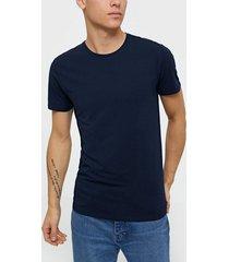 selected homme slhnewpima ss o-neck tee b noos t-shirts & linnen mörk blå