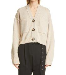 women's proenza schouler eco cashmere blend crop cardigan, size medium - ivory