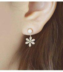 orecchini di moda orecchini di goccia fiore charm flash perle di strass orecchini gioielli eleganti per le donne