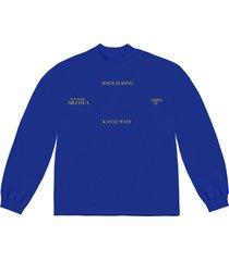 kanye west 'jesus is king' vinyl long-sleeve t-shirt - blue