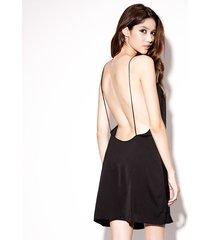 camisón sin espalda grande pijama sexy-negro