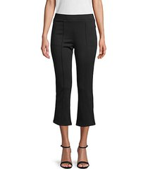 flared-cuff cropped pants