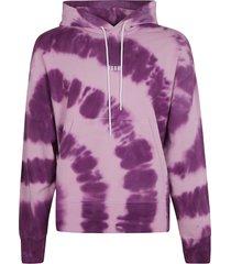 msgm logo dye hoodie
