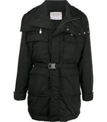1017 alyx 9sm padded belted coat - black