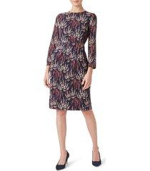 women's hobbs trina long sleeve stretch silk dress