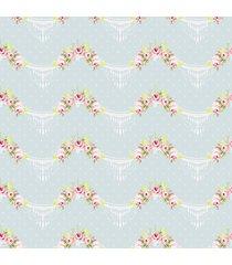 papel de parede floral candelabro