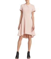 flounce fit-&-flare dress