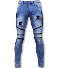 skinny jeans true rise coole biker jeans ripped -