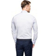 koszula versone 2322 długi rękaw slim fit niebieski