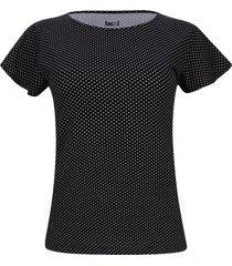 camiseta mujer estampado puntos color negro, talla xs