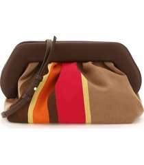 themoirè bios mexican clutch in cotton and vegan leather