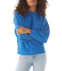 wrangler tie dye logo sweatshirt, size x-large in strong blue at nordstrom