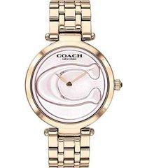 reloj coach 14503234 rosa acero inoxidable