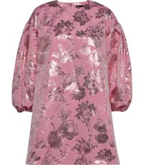 francis, 856 metallic jacquard korte jurk roze stine goya
