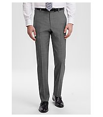 travel tech slim fit flat front tic weave dress pant by jos. a. bank