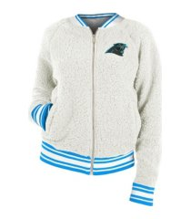 5th & ocean carolina panthers nfl women's sherpa bomber jacket