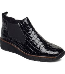 53794-01 shoes boots ankle boots ankle boot - heel svart rieker