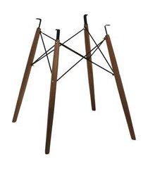 base de mesa eames torre madeira escura 72cm (alt) - 45304 madeira escura