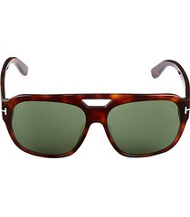 61mm browline square sunglasses