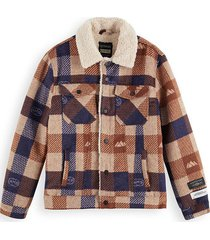 jas sherpa-lined wool cognac