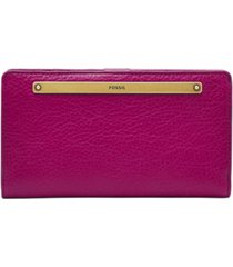 fossil women's liza slim leather bifold wallet