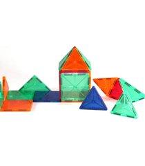 blocos para montar - magforma magnéticos  - maleta com 32 pç