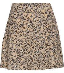 a-line mini skirt kort kjol brun ivyrevel