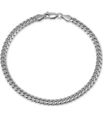 giani bernini curb link chain bracelet in sterling silver, created for macy's