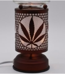 copper marijuana leaf touch lamp oil/tart warmer - use with scentsy wax