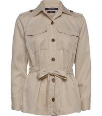 drapey safari shirt outerwear jackets utility jackets beige scotch & soda