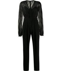 three floor empire shirt jumpsuit - black