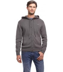 cardigan abotonado gris new man