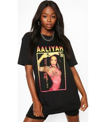 aaliyah licence graphic t-shirt, black