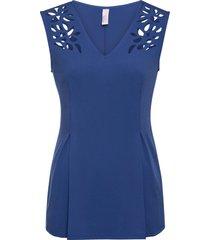 maglia con cut-out (blu) - bodyflirt boutique