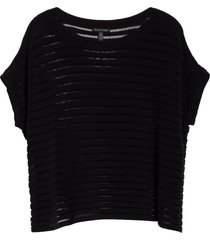 women's eileen fisher boat neck organic cotton & recycled nylon knit top