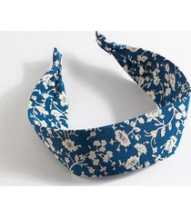 heather floral headband - blue